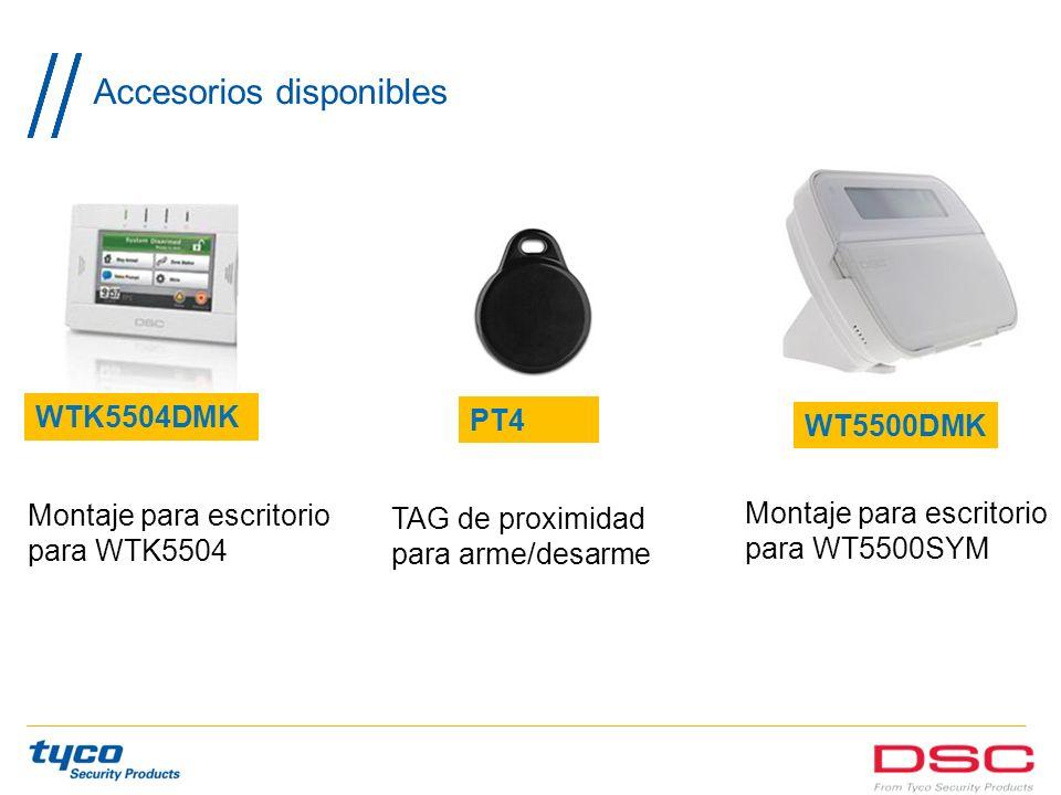 Accesorios disponibles Montaje para escritorio para WTK5504 WT5500DMK PT4 WTK5504DMK TAG de proximidad para arme/desarme Montaje para escritorio para