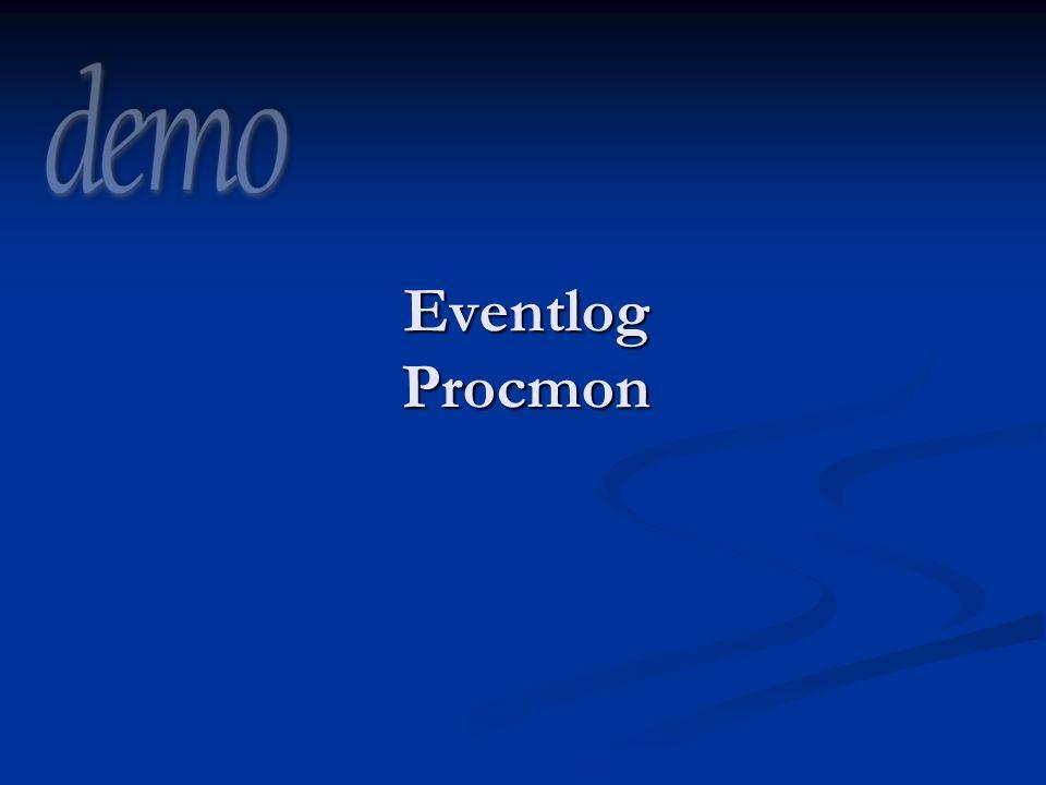 Eventlog Procmon