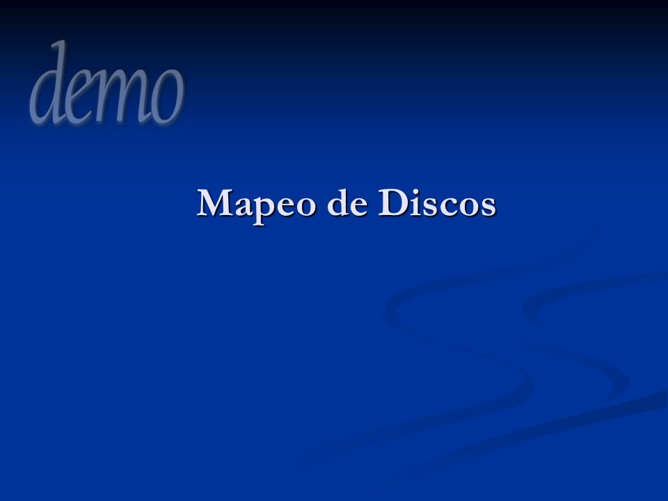 Mapeo de Discos