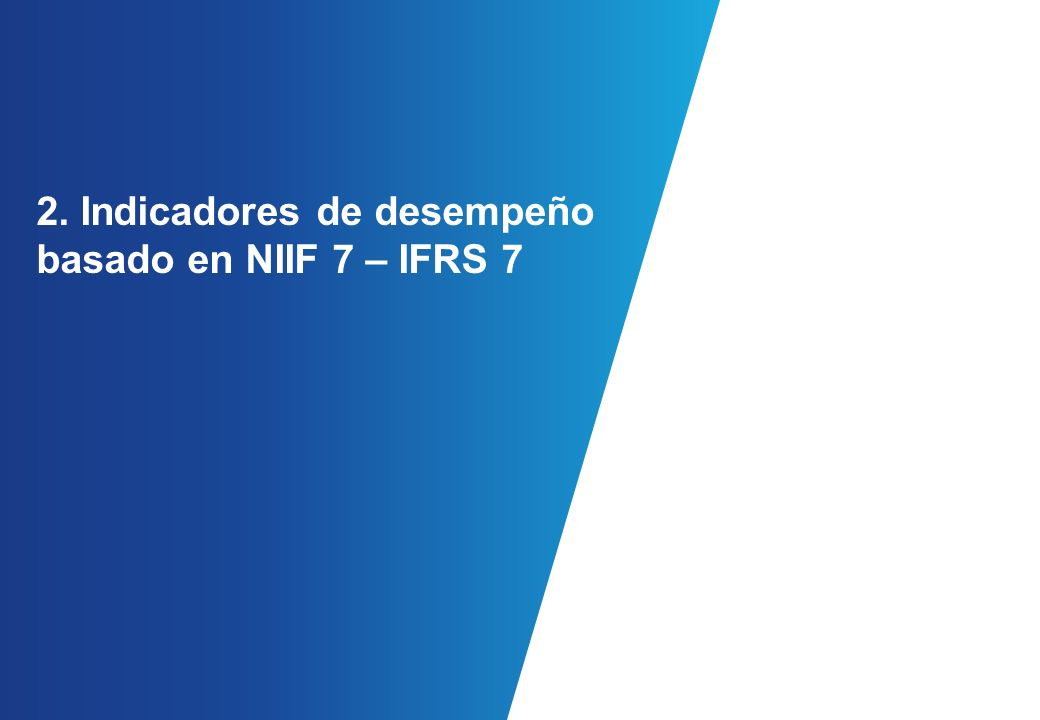 2. Indicadores de desempeño basado en NIIF 7 – IFRS 7