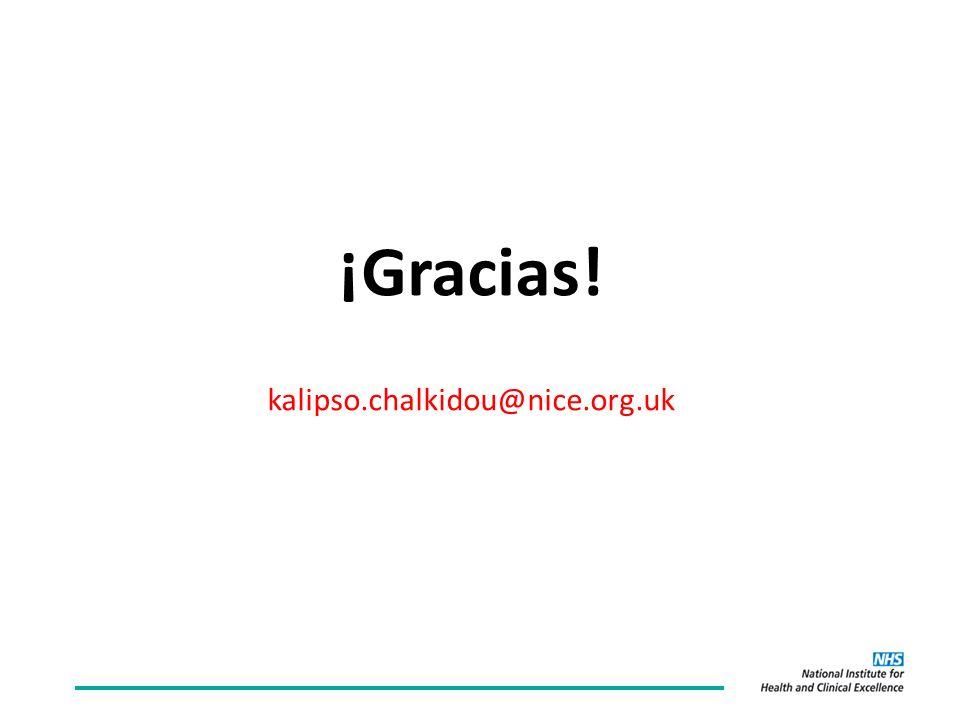 ¡Gracias! kalipso.chalkidou@nice.org.uk