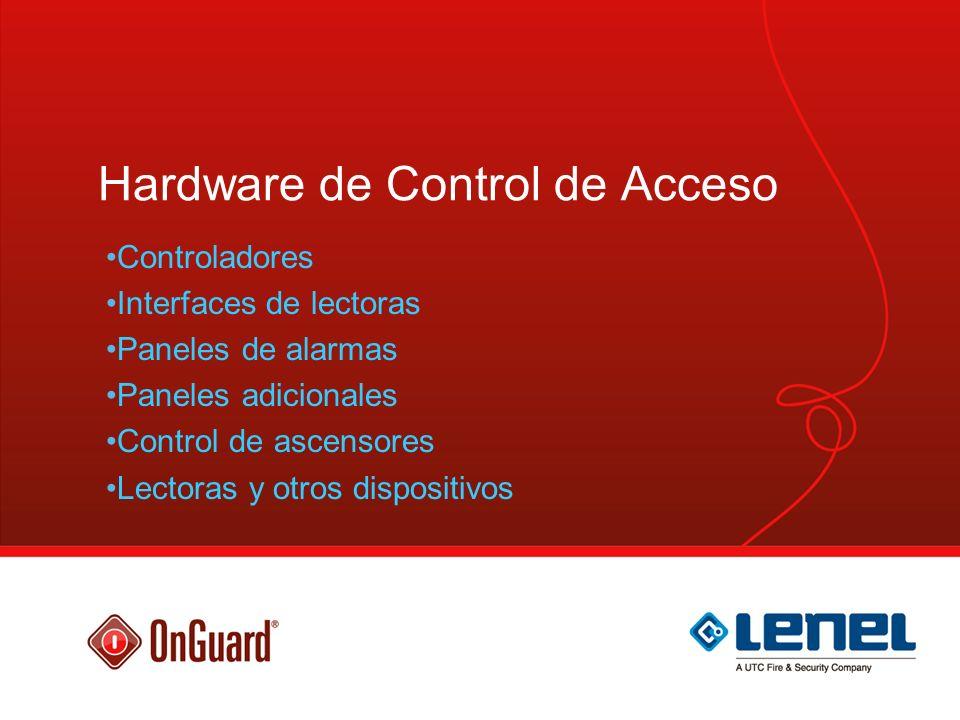Control de ascensor Solución con LNL-1320 Solución con LNL-1300 Hasta 6 pisosHasta 128 pisos Utiliza 6 Relés (salidas) en LNL-1320 utiliza una LNL-1100 y LNL-1200 por cada 16 pisos.