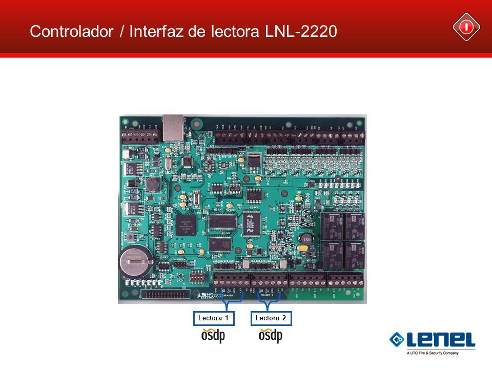 Controlador / Interfaz de lectora LNL-2220 Lectora 1Lectora 2