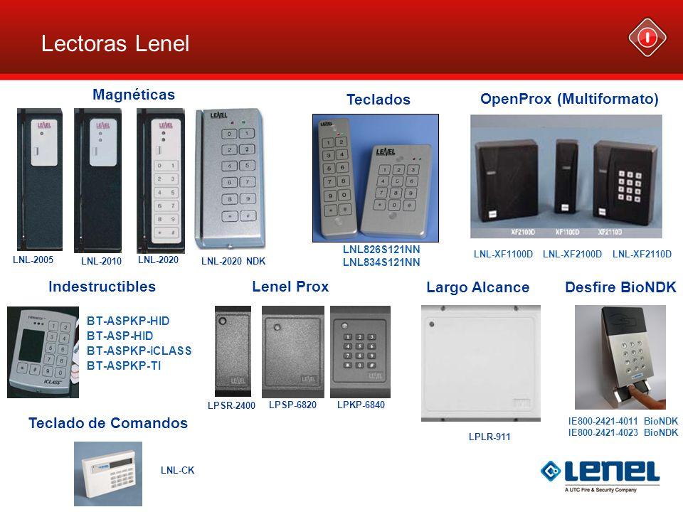 LNL-2005 LNL-2010 LNL-2020 LNL-2020 NDK Lectoras Lenel LNL826S121NN LNL834S121NN BT-ASPKP-HID BT-ASP-HID BT-ASPKP-iCLASS BT-ASPKP-TI Magnéticas Teclad