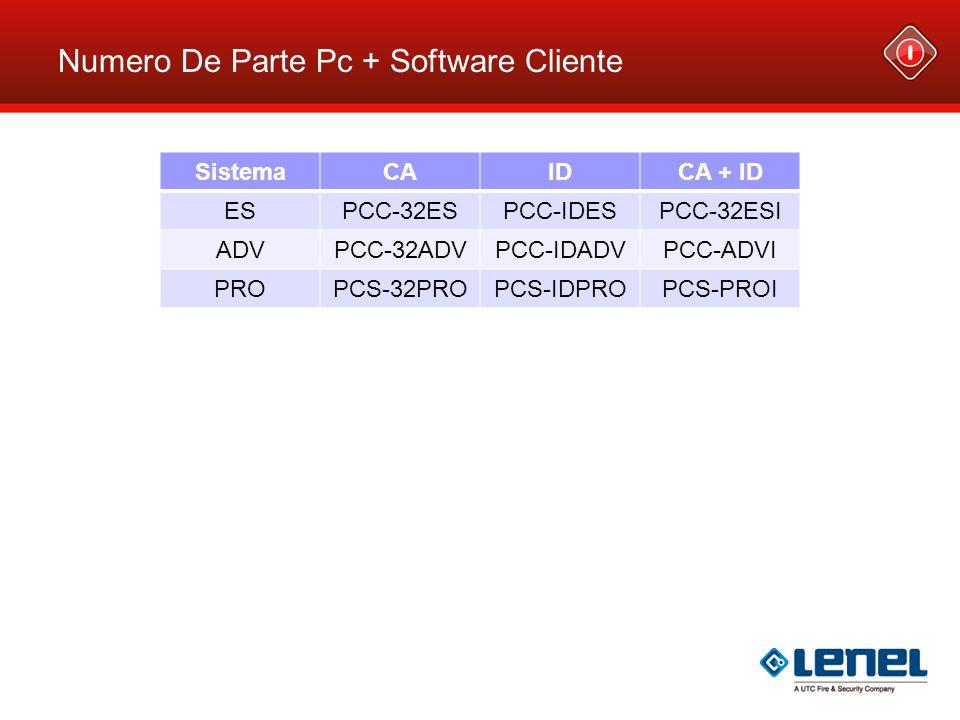 Numero De Parte Pc + Software Cliente SistemaCAIDCA + ID ESPCC-32ESPCC-IDESPCC-32ESI ADVPCC-32ADVPCC-IDADVPCC-ADVI PROPCS-32PROPCS-IDPROPCS-PROI