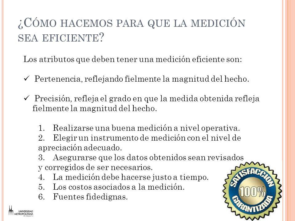 MEDICIÓN DE LOS ÍNDICES DE SATISFACCIÓN DEL CLIENTE La satisfacción se da, en cada instante en que el cliente tiene contacto con la organización (Momentos de la Verdad).