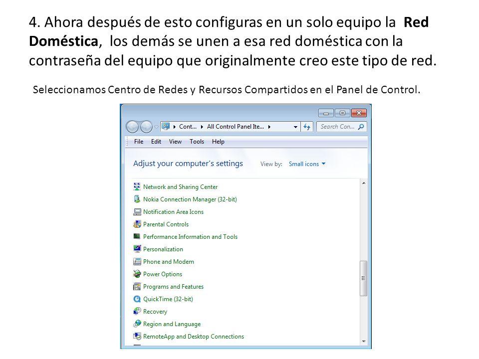 5. Clic en Red Pública