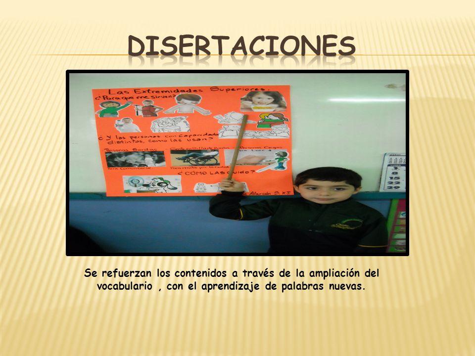 Se refuerzan los contenidos a través de la ampliación del vocabulario, con el aprendizaje de palabras nuevas.