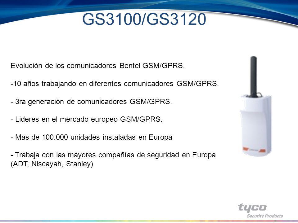 GS3125 GS3125-BA : contiene gabinete, PCB, y antena GS3125-K: PCB, antena con 2mt cable completo con brazo de montaje metal –Características –Utilizan canal de datos GPRS con alta velocidad de transmisión, segura y de bajo costo, hacia las estaciones de monitoreo con Sur-Gard System I / II / III / IV –Transmisores universales GPRS para paneles de alarma que utilizan formato Contact ID –Intervalo de supervisión programable y en el receptor IP –APN, usuario y contraseña programable remotamente vía web server (no necesita programación del instalador).