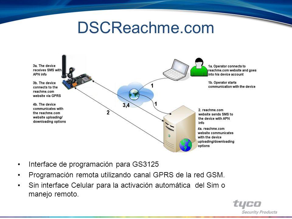 Software Consola GS-3125 - Programación completa de la unidad GS localmente vía RS-232 - Compatible con PC-link de DSC - Actualización de firmware vía RS-232 - Multi lenguaje - Monitoreo local de los siguientes parámetros.