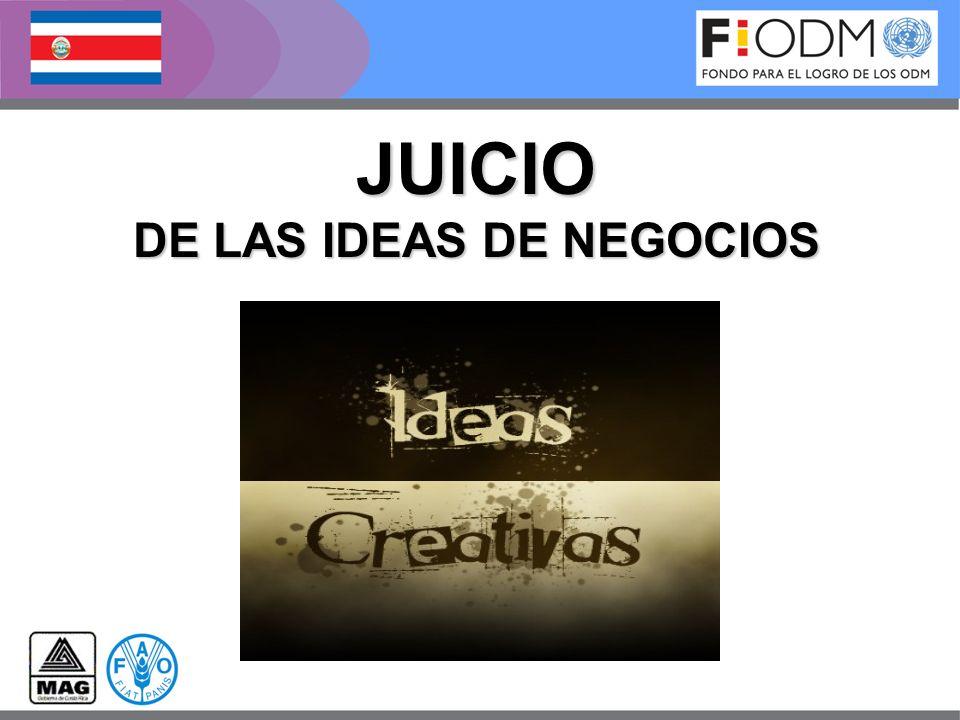 JUICIO DE LAS IDEAS DE NEGOCIOS