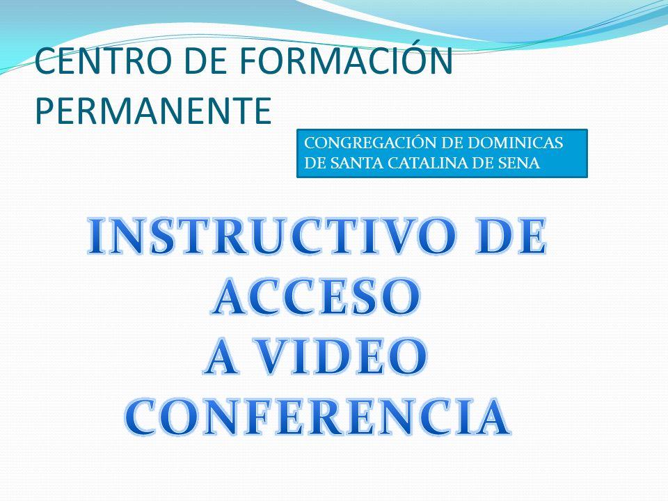 Haga click en la dirección de internet INGRESAR DESDE EL CENTRO DE FORMACIÓN