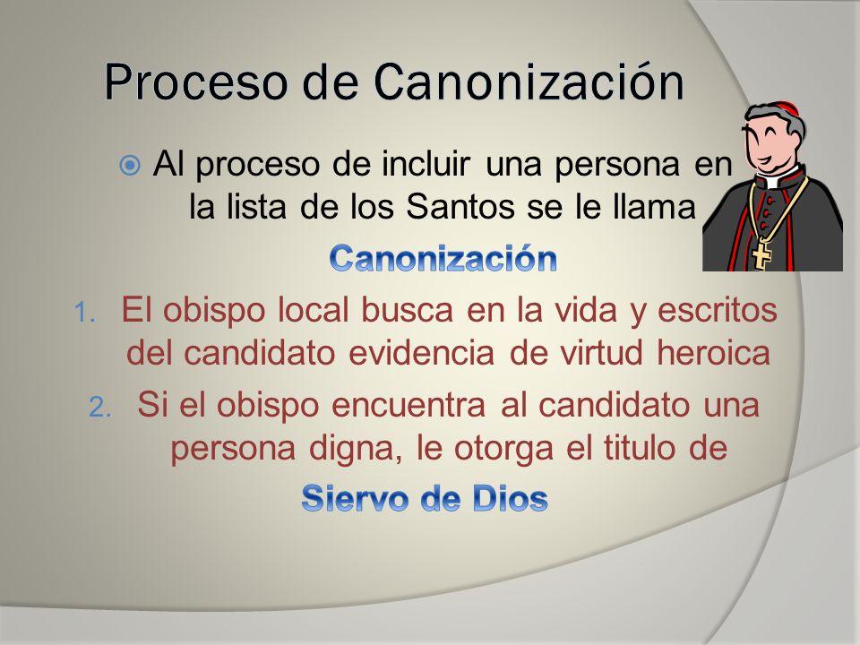 El Panel Evalúa… 3.El obispo envía la información al Vaticano 4.