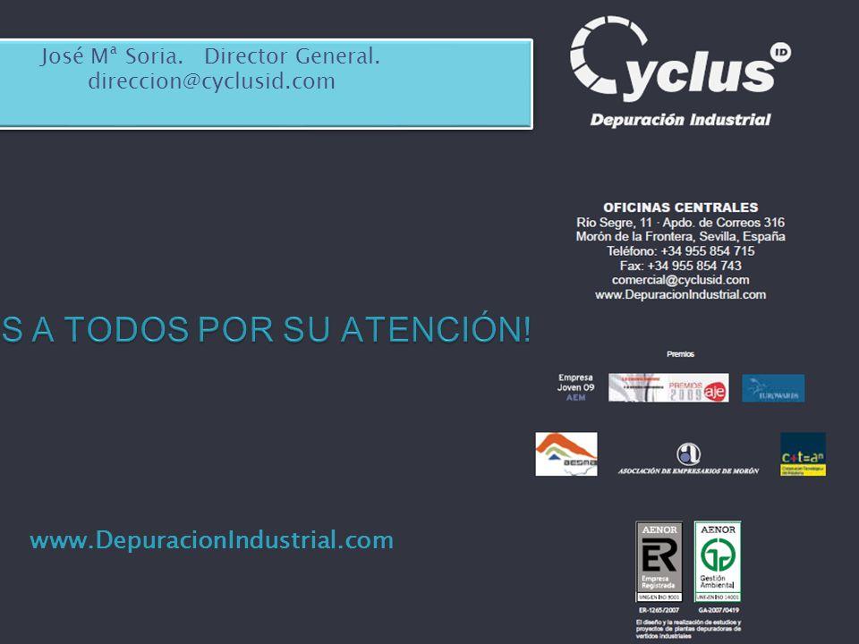 www.DepuracionIndustrial.com José Mª Soria. Director General. direccion@cyclusid.com