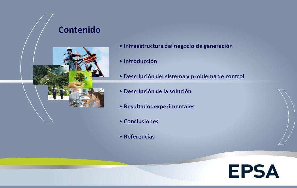 Infraestructura del negocio de generación Introducción Descripción del sistema y problema de control Descripción de la solución Resultados experimenta