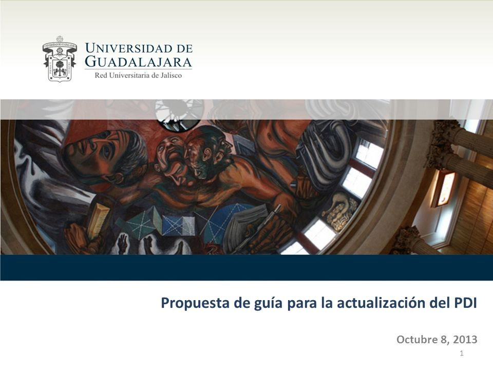 Propuesta de guía para la actualización del PDI Octubre 8, 2013 1
