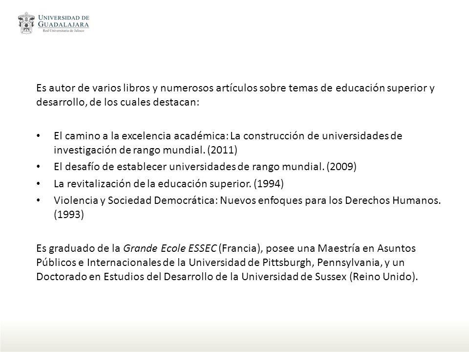 La conferencia magistral se efectuará el día 15 de octubre, en el Auditorio Central del CUCEA.
