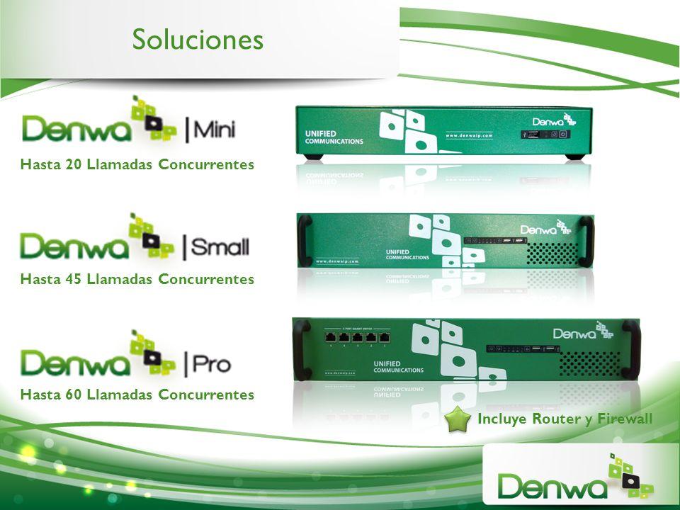 Incluye Router y Firewall Hasta 20 Llamadas Concurrentes Hasta 45 Llamadas Concurrentes Hasta 60 Llamadas Concurrentes