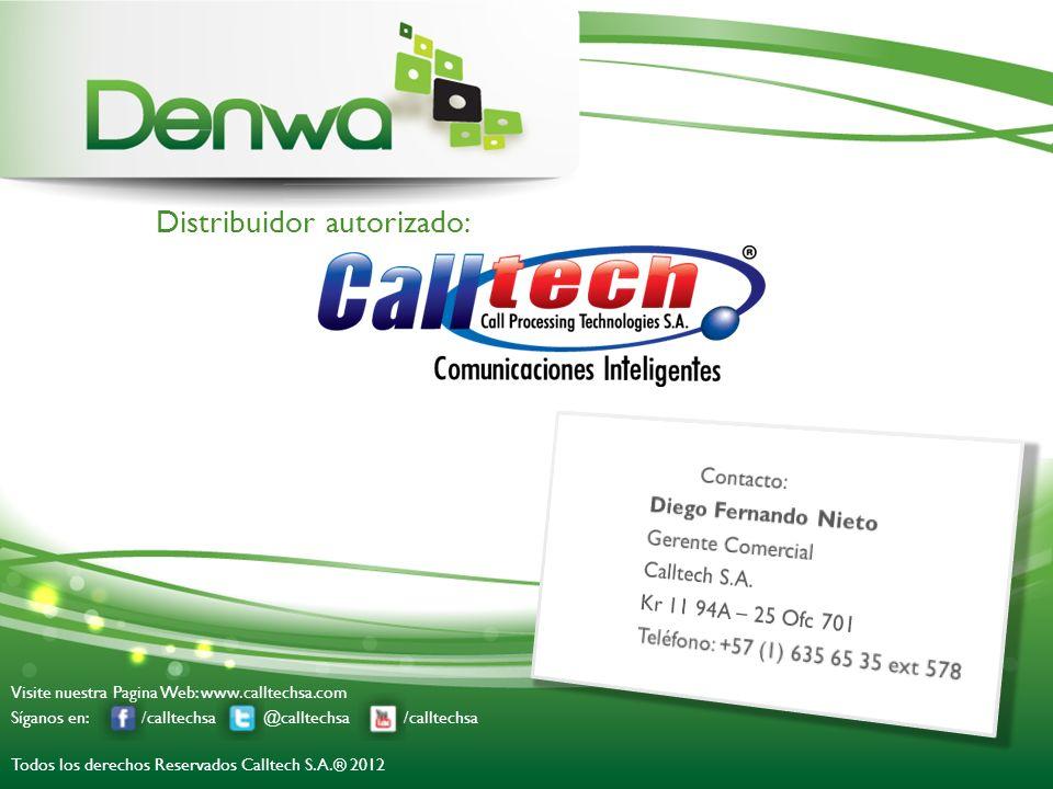 Distribuidor autorizado: Visite nuestra Pagina Web: www.calltechsa.com Síganos en: /calltechsa @calltechsa /calltechsa Todos los derechos Reservados C
