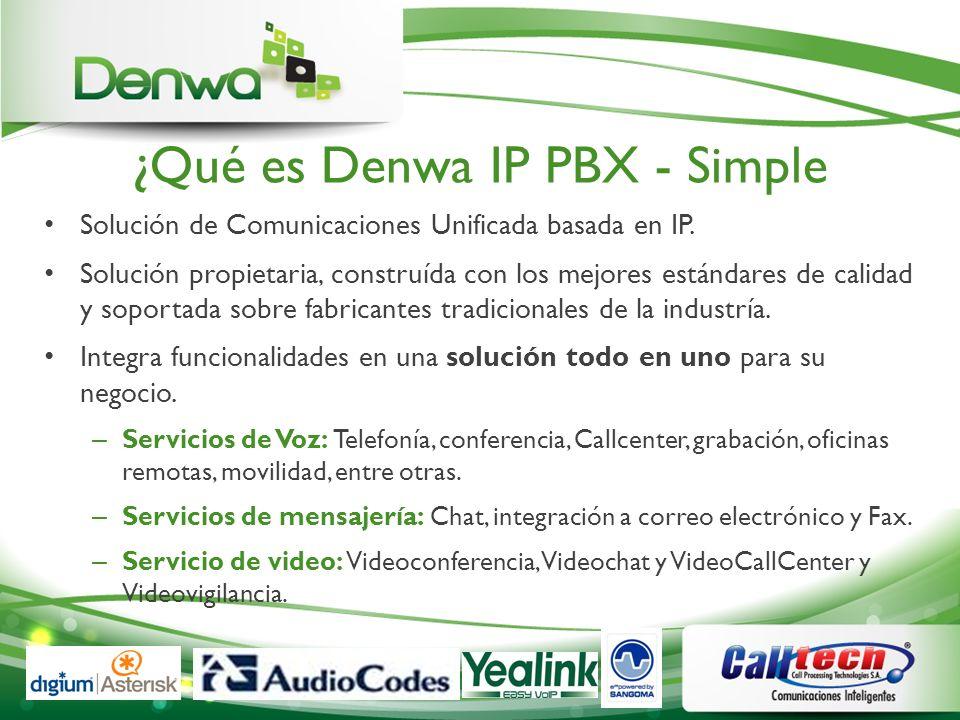 ¿Qué es Denwa IP PBX - Simple Solución de Comunicaciones Unificada basada en IP. Solución propietaria, construída con los mejores estándares de calida