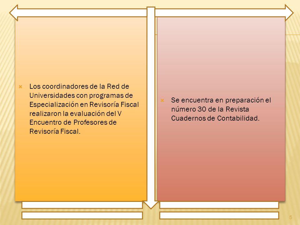 Los coordinadores de la Red de Universidades con programas de Especialización en Revisoría Fiscal realizaron la evaluación del V Encuentro de Profesores de Revisoría Fiscal.