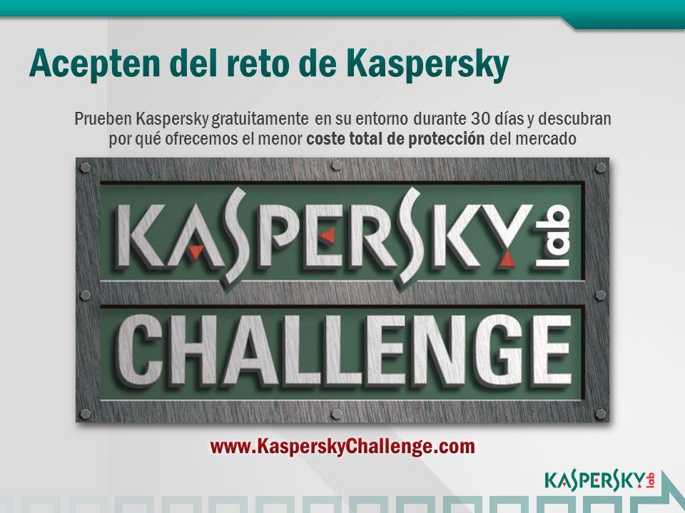 Prueben Kaspersky gratuitamente en su entorno durante 30 días y descubran por qué ofrecemos el menor coste total de protección del mercado