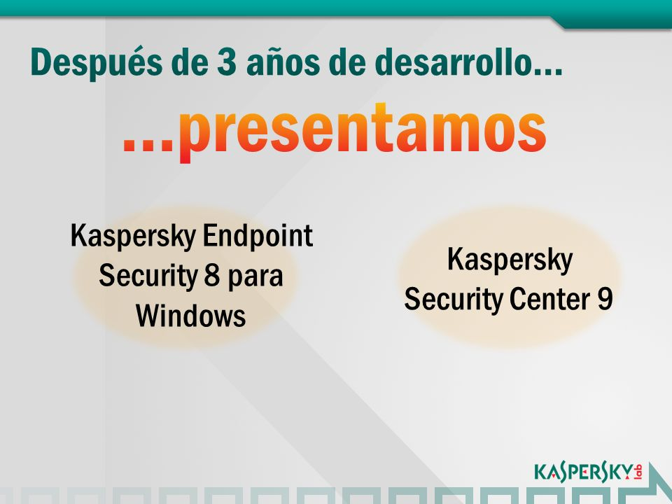 Kaspersky Endpoint Security 8 para Windows Kaspersky Security Center 9