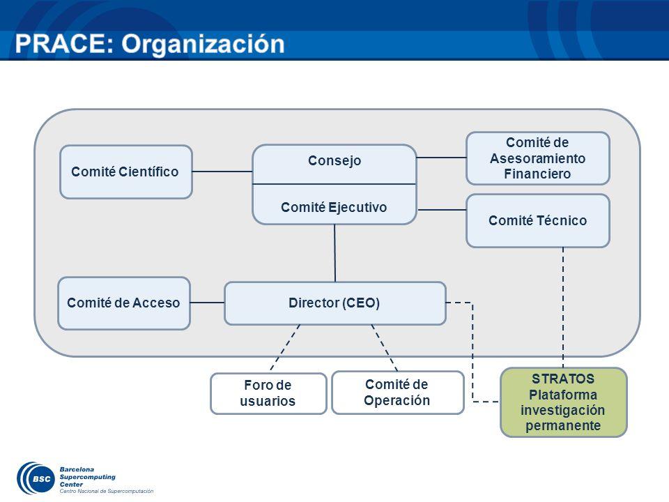 Comité Científico Consejo Comité Ejecutivo Comité de Acceso Director (CEO) Comité de Asesoramiento Financiero Comité Técnico STRATOS Plataforma invest