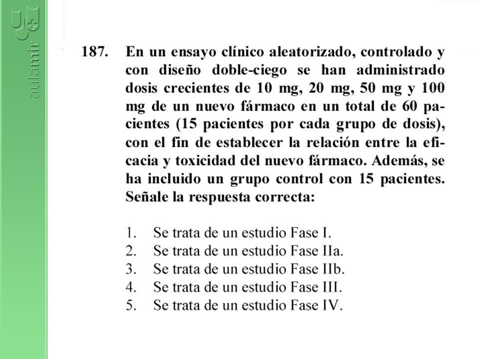 En un ensayo clínico la comparabilidad de los grupos experimental y control la determina: 1.