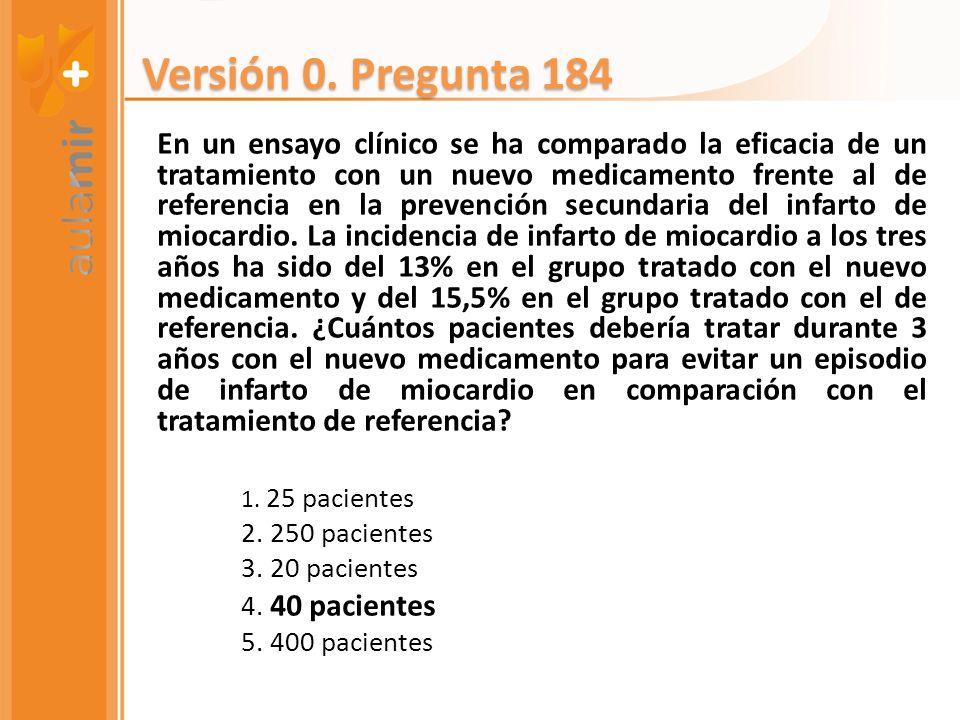 En un ensayo clínico se ha comparado la eficacia de un tratamiento con un nuevo medicamento frente al de referencia en la prevención secundaria del in