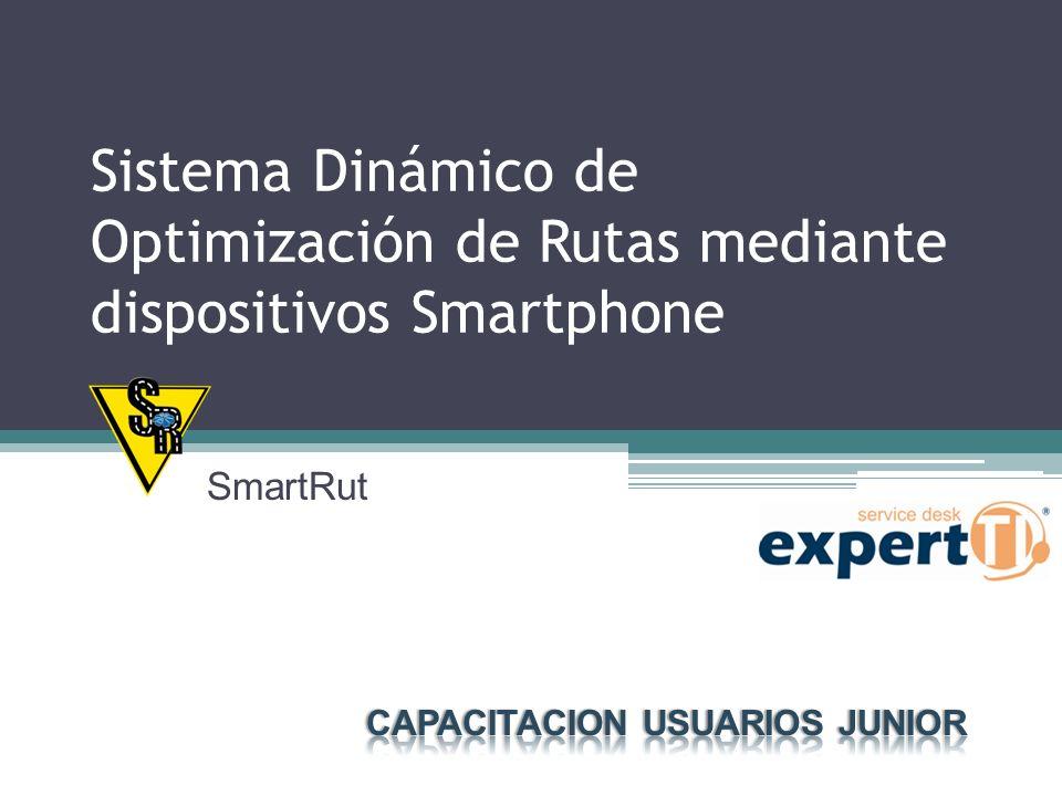 Sistema Dinámico de Optimización de Rutas mediante dispositivos Smartphone SmartRut