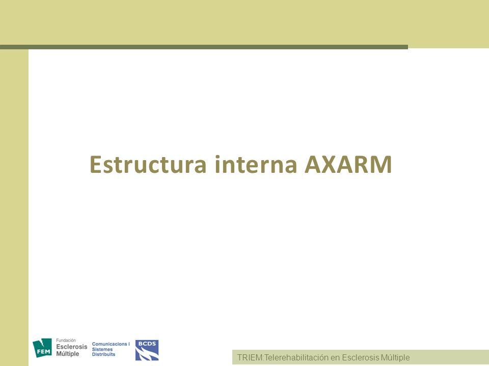 TRIEM:Telerehabilitación en Esclerosis Múltiple Estructura interna AXARM