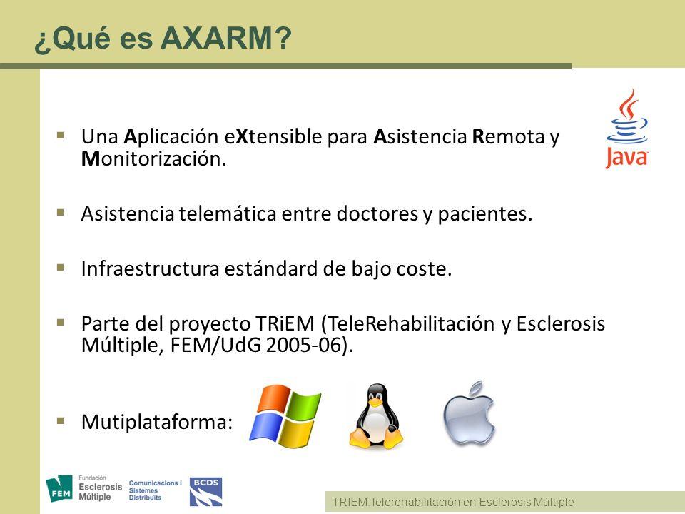 TRIEM:Telerehabilitación en Esclerosis Múltiple Una Aplicación eXtensible para Asistencia Remota y Monitorización. Asistencia telemática entre doctore