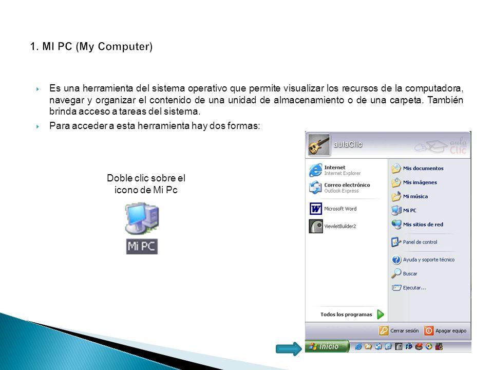 Es una herramienta del sistema operativo que permite visualizar los recursos de la computadora, navegar y organizar el contenido de una unidad de alma