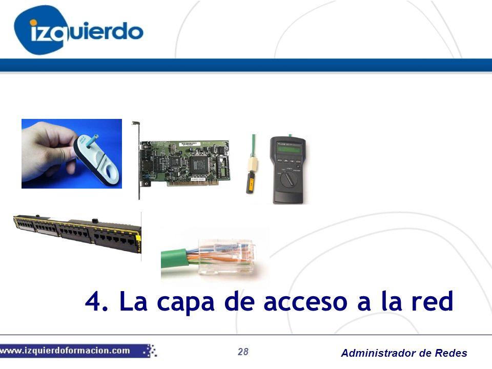 Administrador de Redes 4. La capa de acceso a la red 28