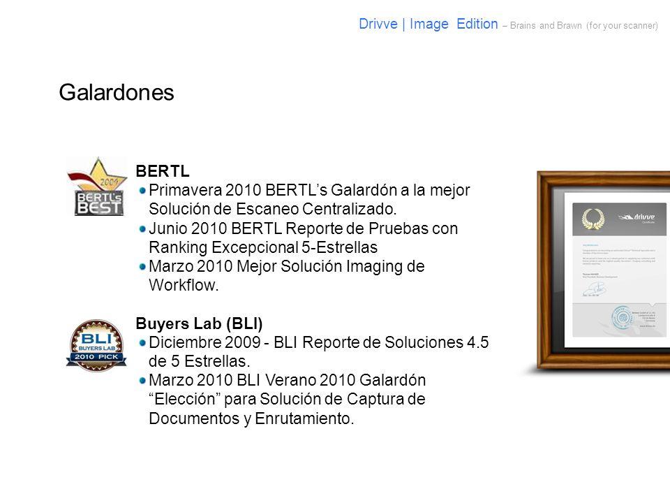 Galardones BERTL Primavera 2010 BERTLs Galardón a la mejor Solución de Escaneo Centralizado. Junio 2010 BERTL Reporte de Pruebas con Ranking Excepcion