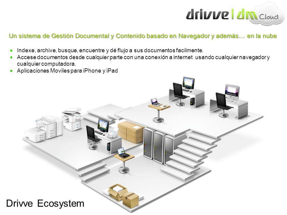 Drivve Ecosystem Un sistema de Gestión Documental y Contenido basado en Navegador y además… en la nube Indexe, archive, busque, encuentre y dé flujo a