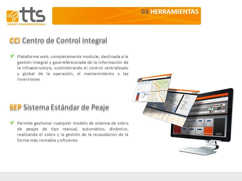 Elementos instalados en la infraestructura Centro de Control de la autopista Oficinas centrales en Madrid 03.1 CCI | CENTRO DE CONTROL INTEGRAL CCI Arquitectura Pórtico GIP CC SCI360 CDT SEP Sistemas ITS GIN GIV CCI