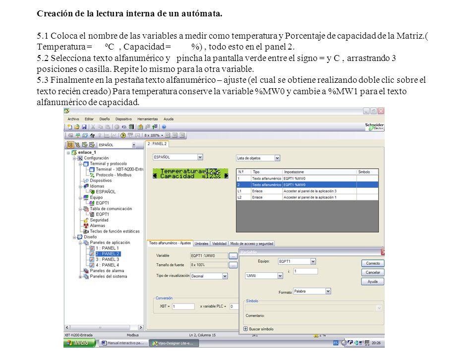 Nivel 2.PANTALLA GRAFICA. 1.1 iniciar programa y escoger pantalla XBT-RT500.