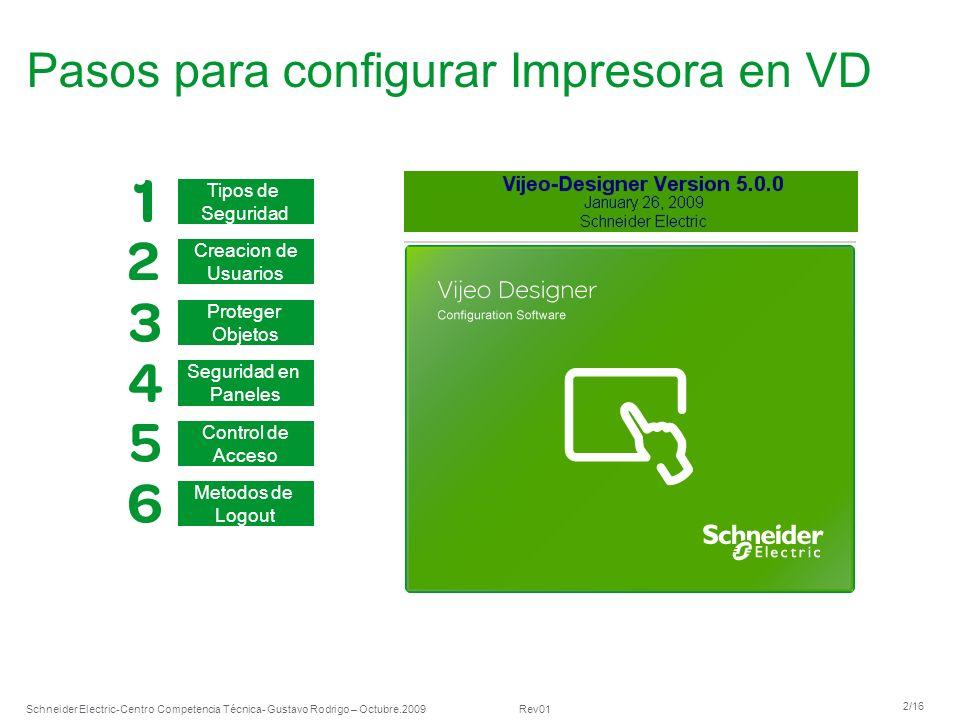 Schneider Electric 13/16 -Centro Competencia Técnica- Gustavo Rodrigo – Octubre.2009 Rev01 6.