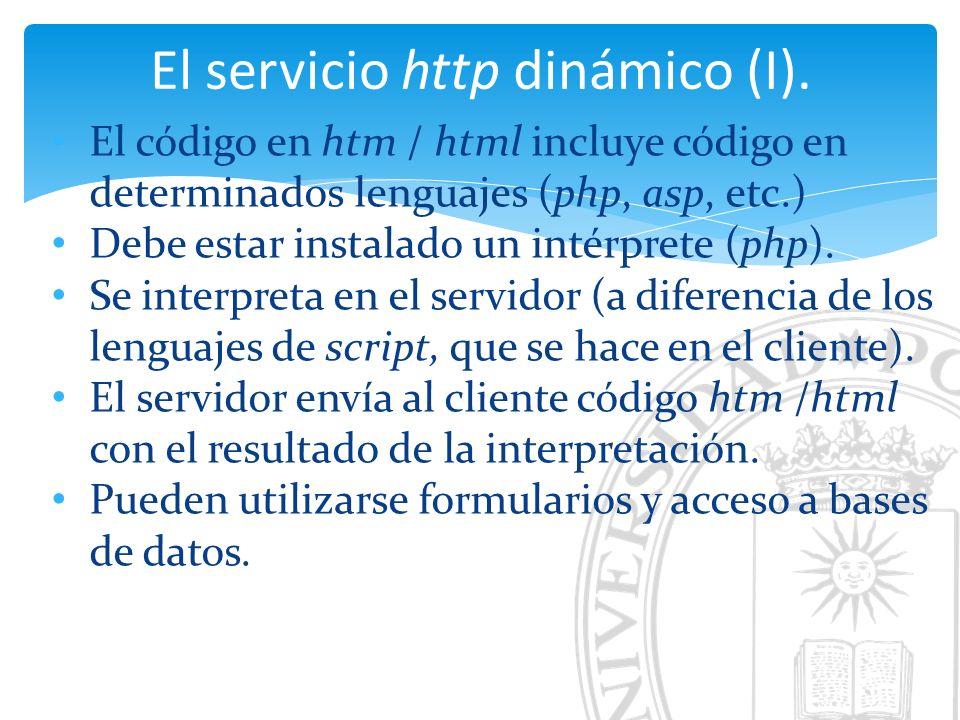 El servicio http dinámico (I).