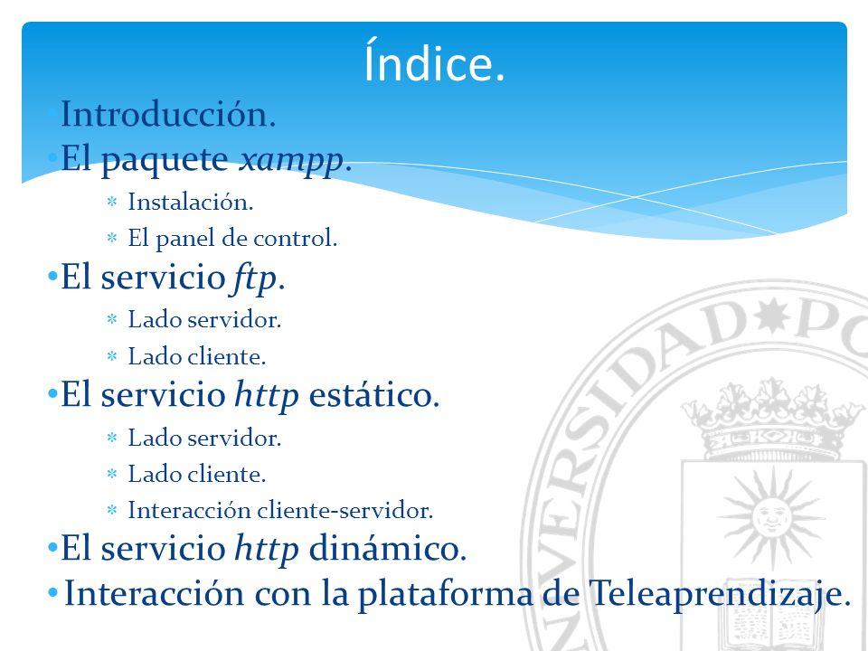 El servicio ftp. Lado cliente (II). Acceso al servicio: