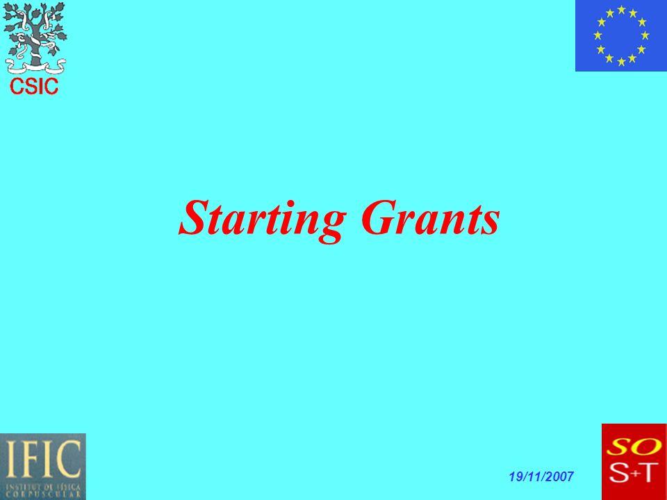 19/11/2007 Starting Grants