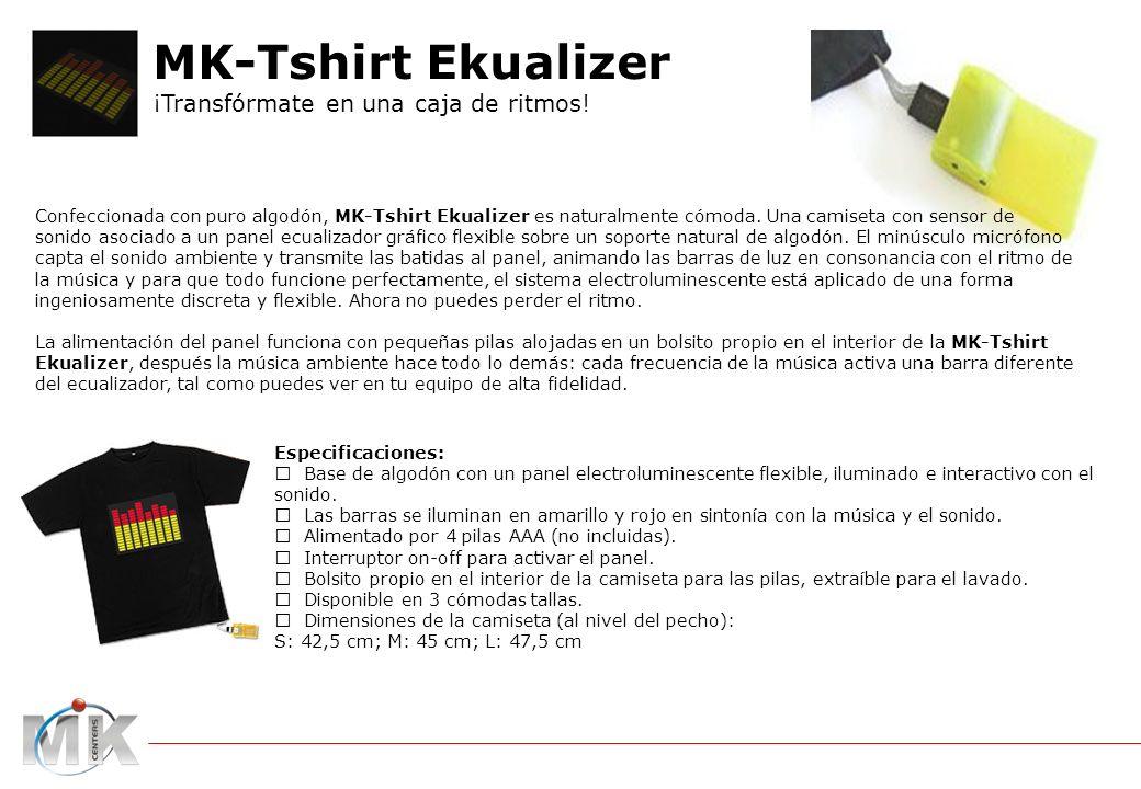 Confeccionada con puro algodón, MK-Tshirt Ekualizer es naturalmente cómoda.