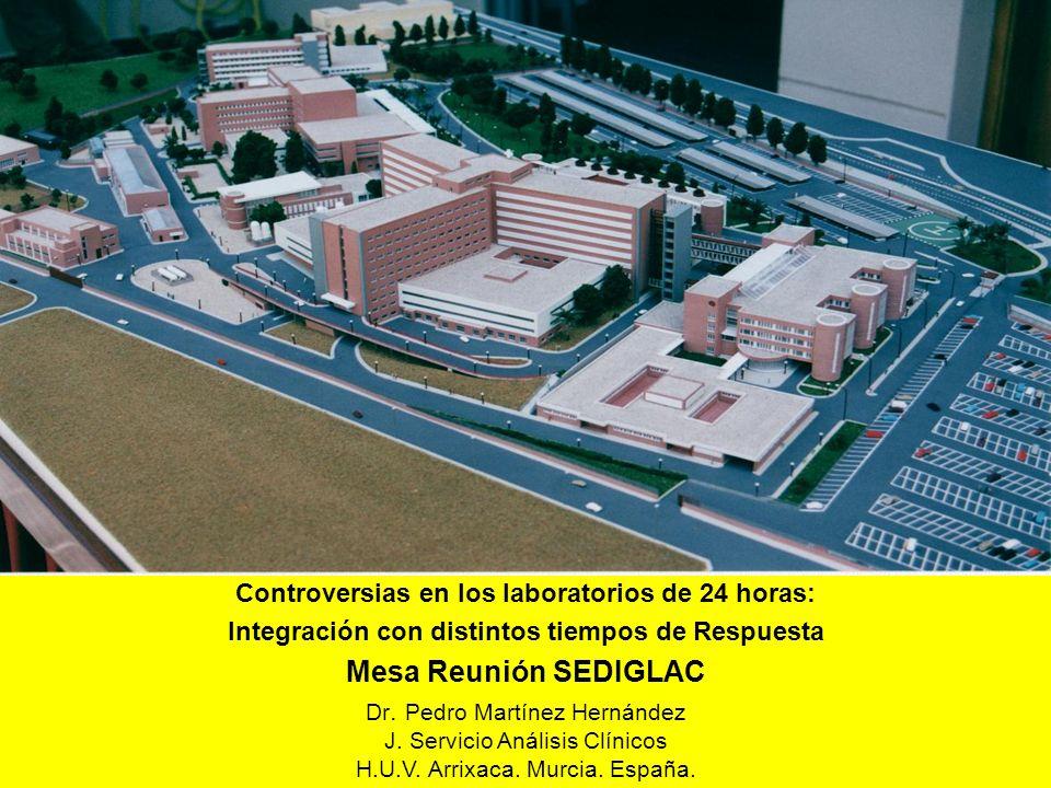 Controversias en los laboratorios de 24 horas: Integración con distintos tiempos de Respuesta Mesa Reunión SEDIGLAC Dr. Pedro Martínez Hernández J. Se