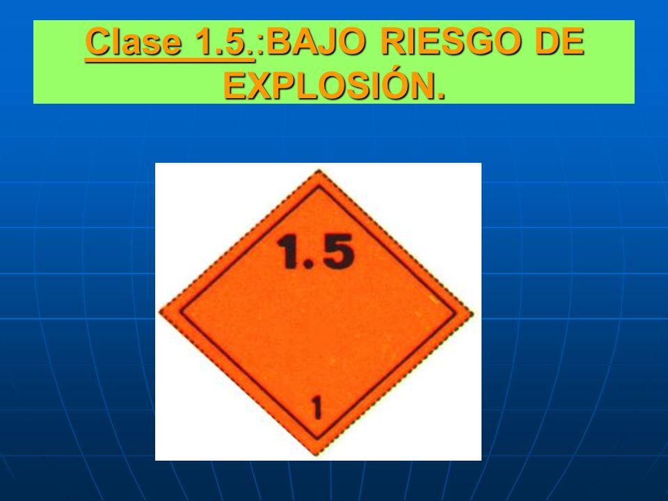 Clase 1.4.:LEVE RIESGO EN CASO DE IGNICIÓN.