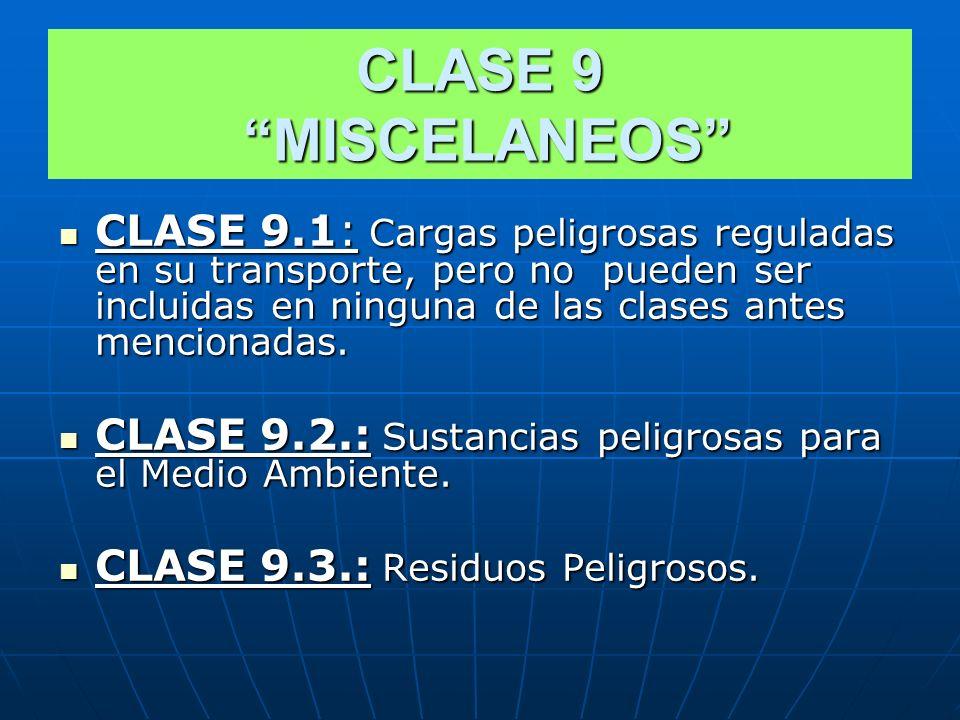 CLASE 8 CORROSIVOS