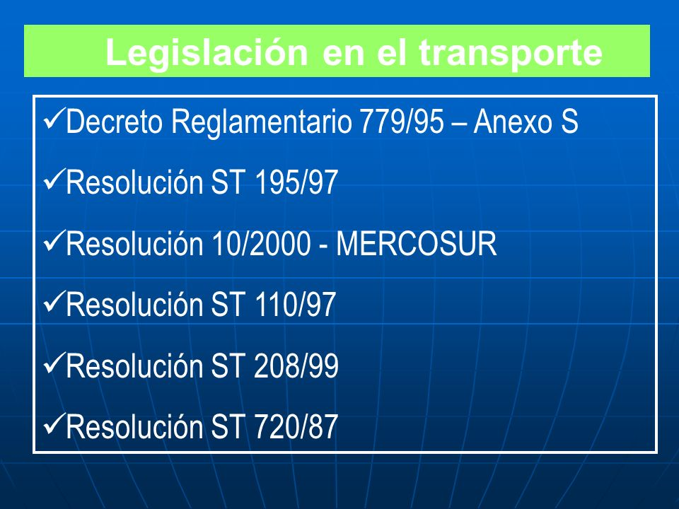 SISTEMA DE IDENTIFICACION 1. DEL MERCOSUR ( ONU) 2. DE LA DOT ( EEUU) 3. DE HAZCHEM (REINO UNIDO)