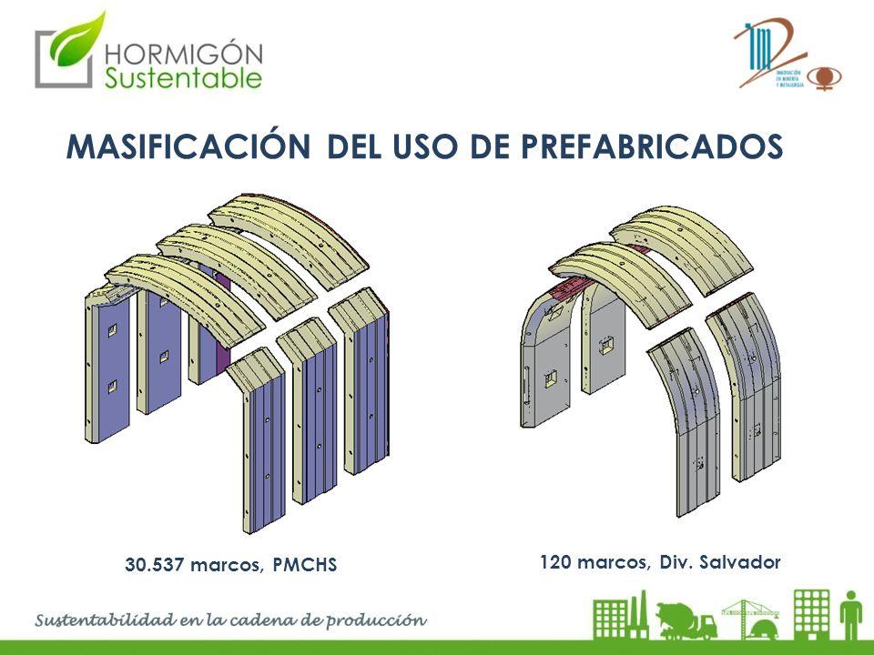 MASIFICACIÓN DEL USO DE PREFABRICADOS 30.537 marcos, PMCHS 120 marcos, Div. Salvador