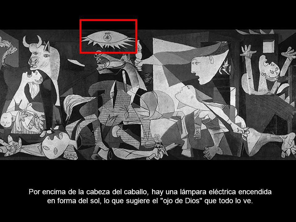 La angustia del caballo, que se encuentra en el centro, representa al pueblo.